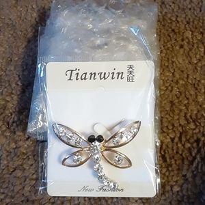 2 Gorgeous Dragonfly Pins!!!